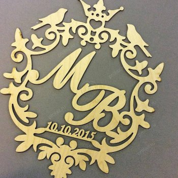 Монограмма на свадьбу МН-000001