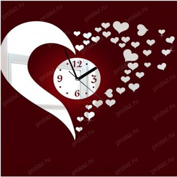 Белые настенные часы БЧ-000001