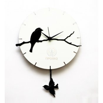 Белые настенные часы БЧ-000003