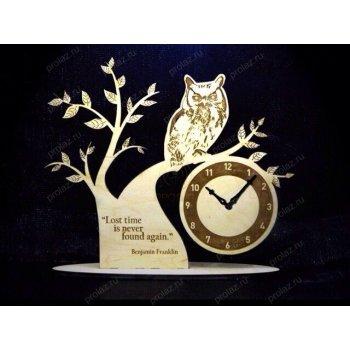 Деревянные настенные часы ДЧ-000023