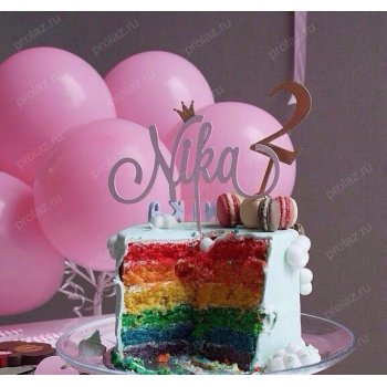 Надпись+цифра на торт ДР-000015