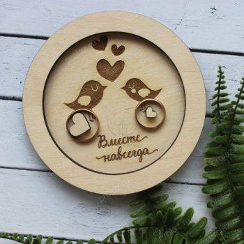 Подставка под кольца круглая с птичками АС-000003