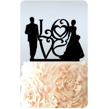Топпер на свадебный торт АС-000005