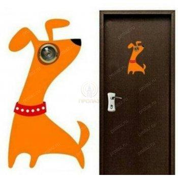 Веселая собачка на дверь ИД-000010