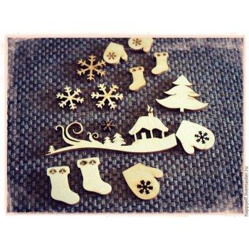Набор зимний для декора НД-000001