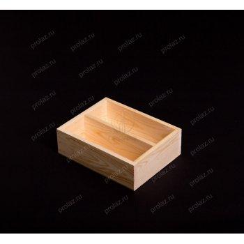 Деревянный ящик с перегородкой ЯЩ-000002