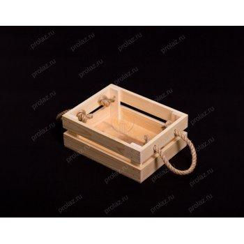 Деревянный ящик Реечный-1 ручка канат ЯЩ-000010