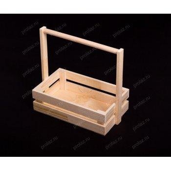 Деревянный ящик Реечный-1 ручка дерево ЯЩ-000011