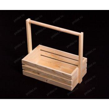 Деревянный ящик Реечный-2 ручка дерево ЯЩ-000015